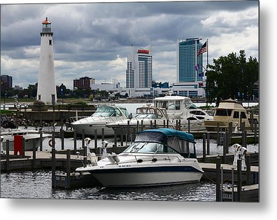 Detroit Boat Docks Metal Print