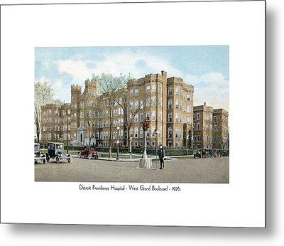 Detroit - Providence Hospital - West Grand Boulevard - 1926 Metal Print