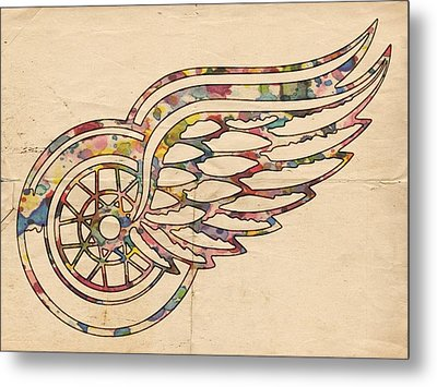 Detroit Red Wings Poster Art Metal Print