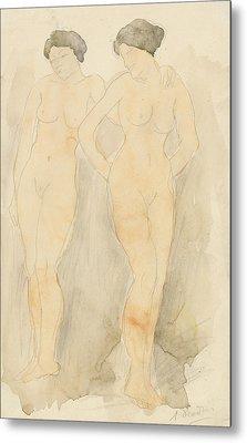 Deux Figures Debout Metal Print by Auguste Rodin