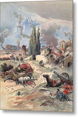 Devastation Of Provence, Illustration Metal Print by Albert Robida