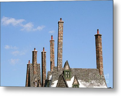 Diagon Alley Chimney Stacks Metal Print