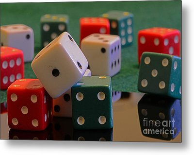 Dice Metal Print by Paul Ward