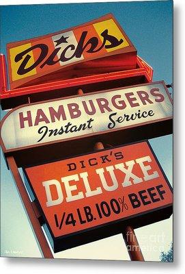 Dick's Hamburgers Metal Print by Jim Zahniser