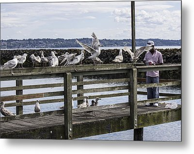 Dinner At The Marina Metal Print