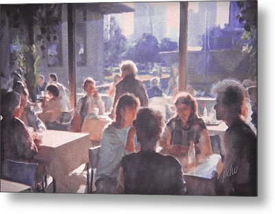 Dinner On The Balcony Metal Print by Philip White