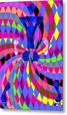 Metal Print featuring the digital art Disco Luvin by Randall Henrie