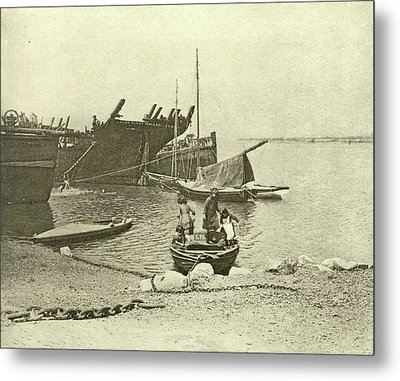 Dismantled Ships, Attributed To Peter Henry Emerson Metal Print by Artokoloro