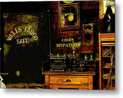 Dispatcher's Office Metal Print by Mike Flynn