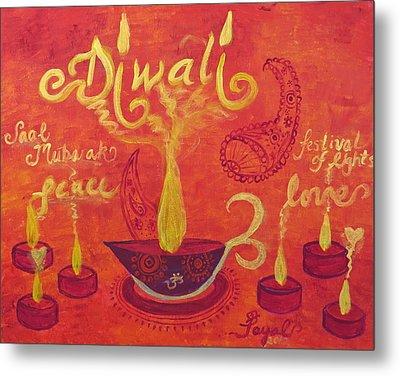 Diwali Lights Metal Print