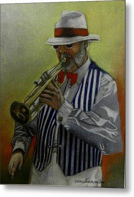 Dixie Music Man Metal Print by Sandra Sengstock-Miller