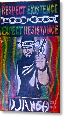 Django Rasta Resistance Metal Print by Tony B Conscious