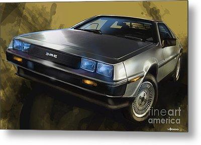 Dmc Sports Car Metal Print by Uli Gonzalez