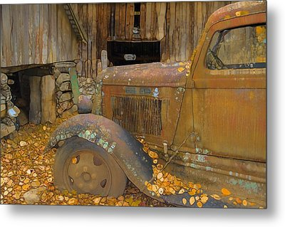 Dodge Truck Autumn Abstract Metal Print by Dan Sproul