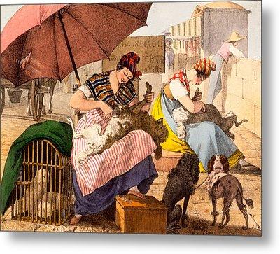 Dog Groomers, 1820 Metal Print