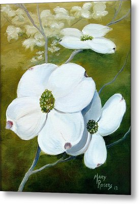 Dogwood Blossoms Metal Print by Mary Rogers