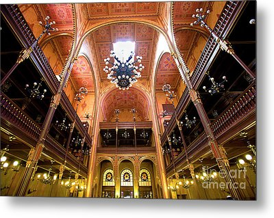 Dohany Synagogue In Budapest Metal Print by Madeline Ellis