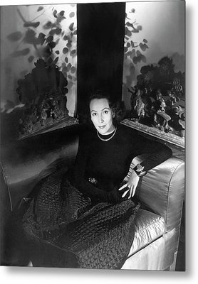 Dolores Del Rio Sitting In An Armchair Metal Print