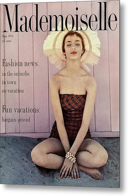 Dolores Hawkins Wearing A Jantzen Swimsuit Metal Print