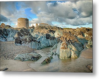 Donabate Martello Tower Metal Print by Martina Fagan