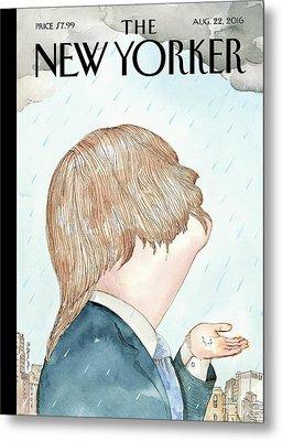 Donald's Rainy Days Metal Print