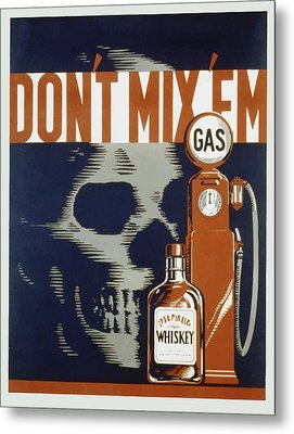 Metal Print featuring the mixed media Don't Mix'em by American Classic Art