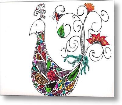 Doodle Bird Metal Print by Lori Thompson