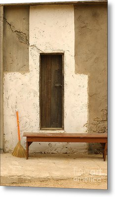 Door And Broomstick Metal Print by Micah May