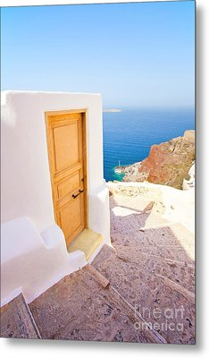 Door Suddenly Metal Print by Aiolos Greek Collections