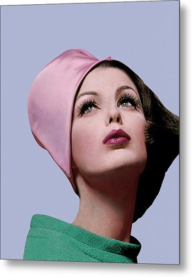 Dorothea Mcgowan In A Cloche Metal Print by Bert Stern