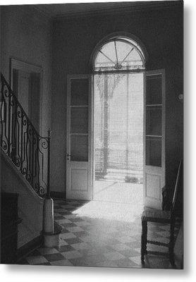 Double Doors In The Home Of Dr. Joseph Weis Metal Print
