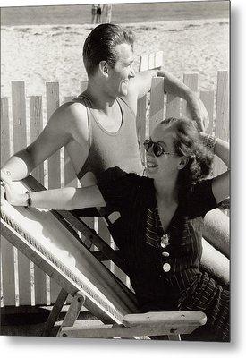 Douglas Fairbanks Jr. With Joan Crawford Metal Print