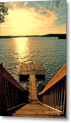 Down To The Fishing Dock - Lake Of The Ozarks Mo Metal Print by Debbie Portwood
