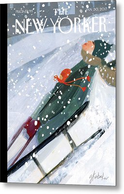 Downhill Racers Metal Print