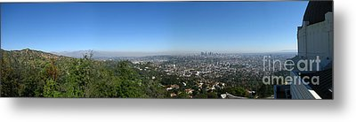 Downtown La From Griffith Observatory Metal Print by Bedros Awak
