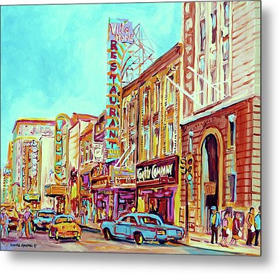 Downtown Montreal Metal Print by Carole Spandau