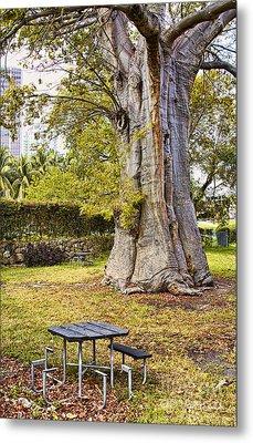 Downtown Old Tree Metal Print by Eyzen M Kim