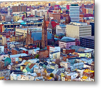 Downtown Paterson Metal Print by Mark Miller