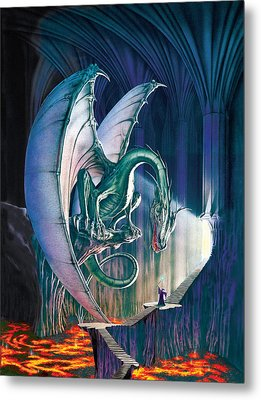 Dragon Lair With Stairs Metal Print by The Dragon Chronicles - Robin Ko