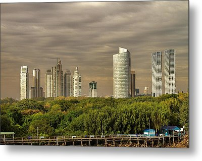 Dramatic Modern Buenos Aires Metal Print by For Ninety One Days