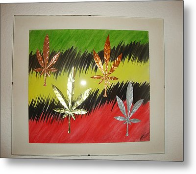 Dream Leaves Three Metal Print by Scott Faucett