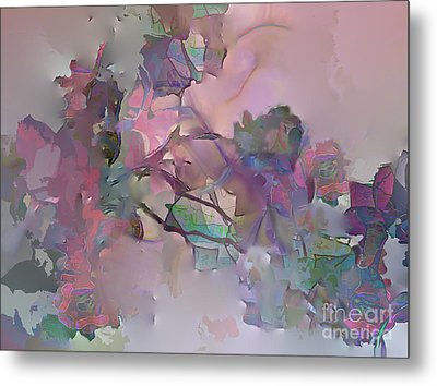 Dreaming Of A Rose Garden Metal Print by Ursula Freer