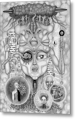 Dreams Of The Deity Metal Print by Kris Milo