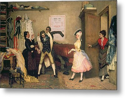 Dressing For The Masquerade Metal Print by Eugen von Blaas