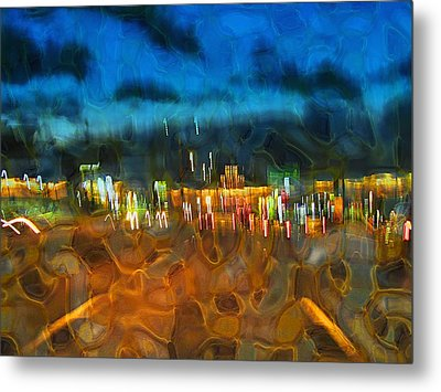 Drive By Night Metal Print by Wendy J St Christopher