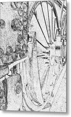 Drive Wheels Dm  Metal Print by Daniel Thompson
