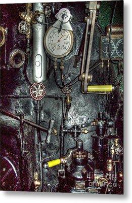 Driving Steam Metal Print by MJ Olsen