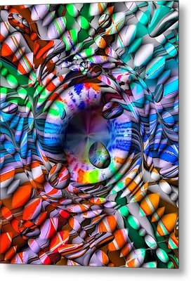 Drops Color By Nico Bielow Metal Print by Nico Bielow