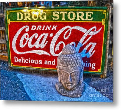 Drug Store Buddha Metal Print by Gregory Dyer