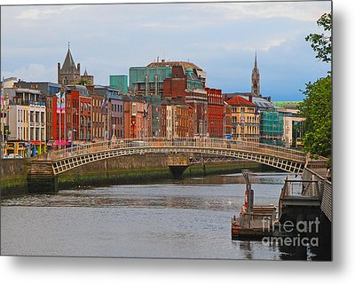 Dublin On The River Liffey Metal Print by Mary Carol Story